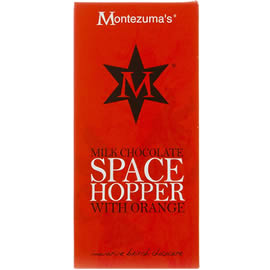 Montezuma's Milk Chocolate Space Hopper with Orange Chocolate Bar 100g