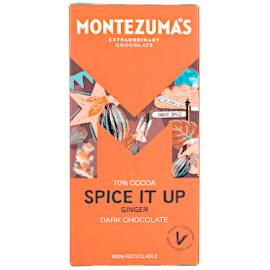 Montezuma's Spice it Up 70% Cocoa Dark Chocolate Bar with Ginger 90g