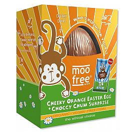 moo free Cheeky Orange Easter Egg Choccy Chum Surprise