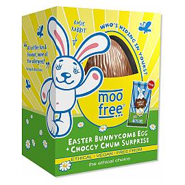 moo free Easter Bunnycomb Egg Choccy Chum Surprise