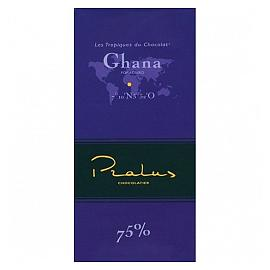 Pralus Ghana 75% Cocoa Dark Chocolate Bar