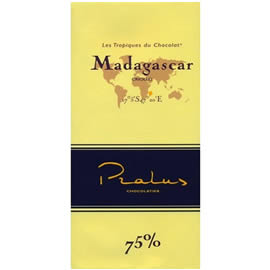 Pralus Madagascar 75% Cocoa Dark Chocolate Bar