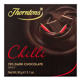 Thorntons 70% Dark Chilli Chocolate Block