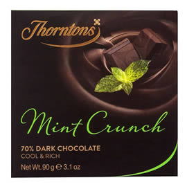 Thorntons 70% Dark Mint Crunch Chocolate Block