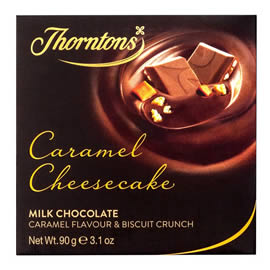 Thorntons Caramel Cheesecake Milk Chocolate Block