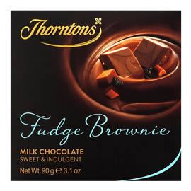 Thorntons Fudge Brownie Milk Chocolate Block