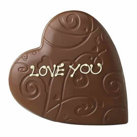 Thorntons Milk Chocolate Lace Heart
