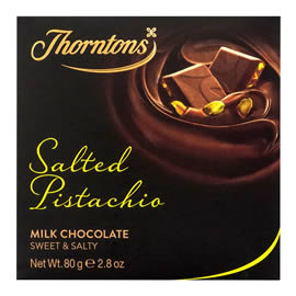 Thorntons Salted Pistachio Milk Chocolate Block