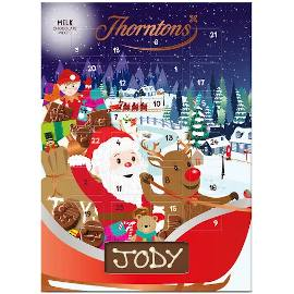 Thorntons Santa and Reindeer Milk Chocolate Advent Calendar
