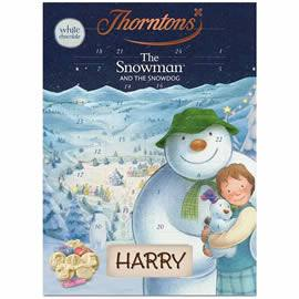 Thorntons The Snowman and The Snowdog White Chocolate Advent Calendar