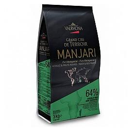 Valrhona Manjari 64% Cocoa Couverture Chocolate Chips 3kg