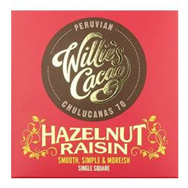 Willie's Cacao Hazelnut Raisin Dark Chocolate Bar