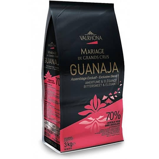Valrhona Chocolate Guanaja 70% Couverture Chips (3kg)