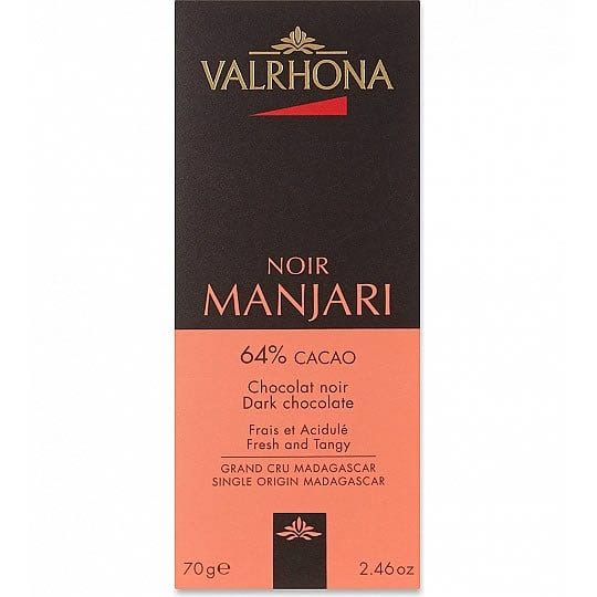 Valrhona Noir Manjari 64% Cacao Dark Chocolate Bar 70g