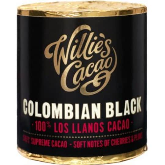 Willie's Chocolate Colombian Black Santander Superior 100% Pure Cacao