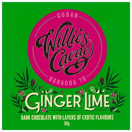 Willie's Cacao Ginger Lime Dark Chocolate Bar