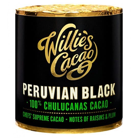 Willie's Chocolate Peruvian Black San Martin 100% Pure Cacao